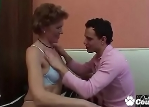 Old Granny Teachs A Lad To whatever manner To Fuck