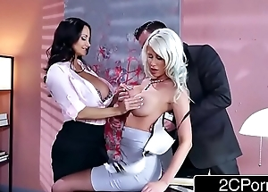 Sexy Threesome in the Office - Ava Addams, Riley Jenner