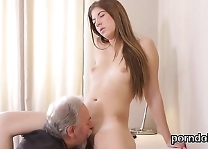 Cuddly schoolgirl is teased and fucked by her elder mentor