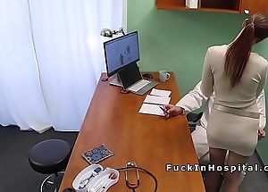 Super hot patient bangs doctor in office