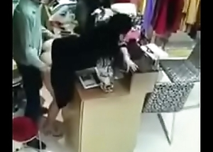 Boss and staff fuck in shop