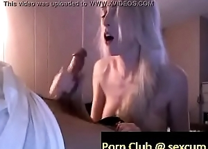 blonde amateur delivers an amazing blowjob switching from him fucking her hot mouth to her aphoristic boo