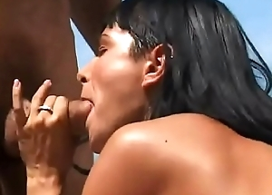 Double Dicking for Brunette Beauty Adrienne Klass Outdoors
