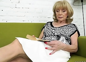 Old lady Szuzanne and her big cocked youthful lover