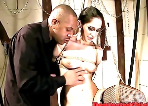 Doggystyled submissive slave jizzed on ass
