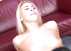 Nylon lovnig blonde slut ride the cock like its the only one in mother earth