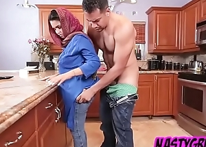 Innocent arab interchange student be full with cum deep in her muslim pussy