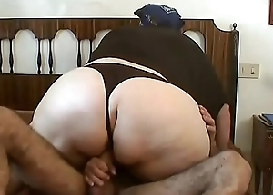 Amateur BBW fucked in the ass