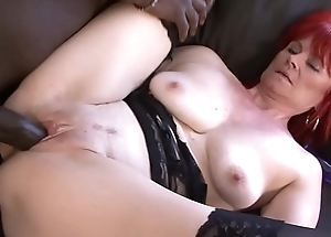 Mature Sprog Interracial Hardcore Pussy Fucked and Swallows coloured bull cum