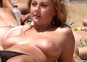 NICE HUGE Special TOPLESS ON THE BEACH more on http://www.allanalpass.com/CMQ95