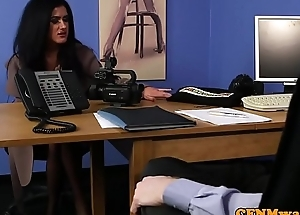 British cfnm femdom cocksucking live through wait in office