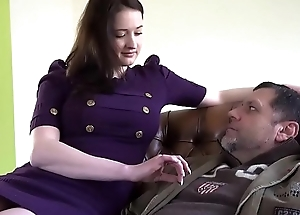 Grandpa Fucking Young Teen with Beautiful Big Bristols in Old Young Sex