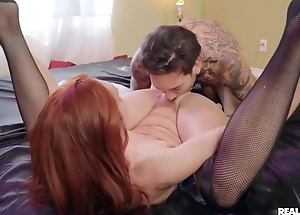 Hardcore pussyfuck for slender red-head beauty