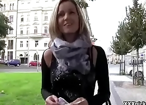 Cutie Amateur European Teen Slut Gives Head In Public For Money 09